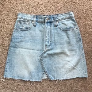 Madewell Denim Mini Skirt